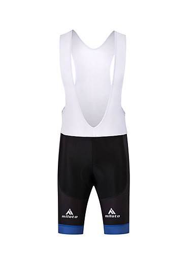 cheap Cycling Clothing-Men's Cycling Bib Shorts Bike Bib Shorts Pants Bottoms 3D Pad Sports Polyester White / Black Road Bike Cycling Clothing Apparel Relaxed Fit Bike Wear / Stretchy