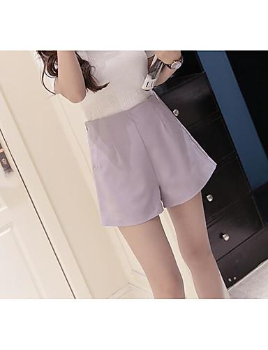 Dámské Sexy Není elastické Kraťasy Kalhoty Volné Mid Rise Čistá barva Jednobarevné