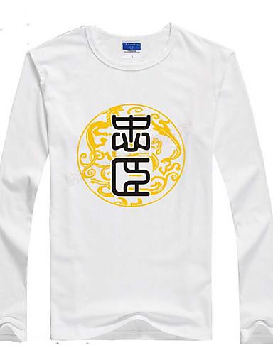 여성 솔리드 라운드 넥 긴 소매 티셔츠,단순한 캐쥬얼/데일리 면 봄 중간