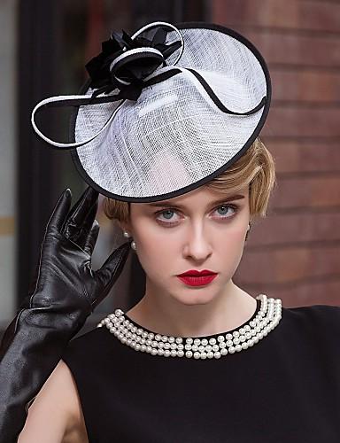 abordables Chapeau & coiffure-Lin Kentucky Derby Hat / Fascinators / Chapeaux avec 1 Mariage / Occasion spéciale / Décontracté Casque
