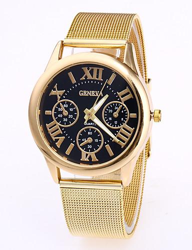 Geneva 남성용 석영 손목 시계 중국어 캐쥬얼 시계 스테인레스 스틸 밴드 패션 멋진 로즈 골드