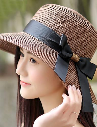 Mujer Sombrero para el sol - Chic de Calle Un Color   Verano 5766122 2019 –   13.64 18eb67b43f4