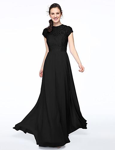 085c1c4948da Γραμμή Α Με Κόσμημα Μακρύ Σιφόν   Μπούστο δαντέλα Φόρεμα Παρανύμφων με  Δαντέλα   Πλισέ με LAN TING BRIDE®   Ψευδαίσθηση