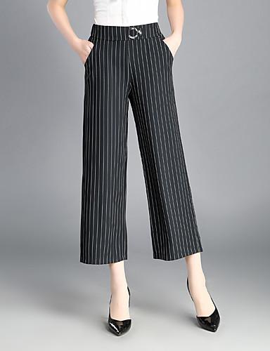 e367d9ea Damskie Moda Typu Chino Spodnie,Wysoki stan Spodnie szerokie nogawki ...