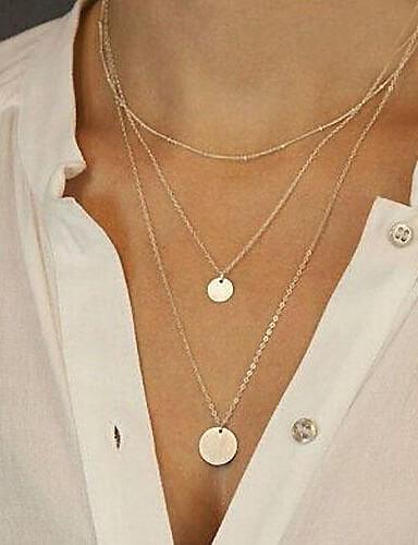 levne Zasvěcený výběr-Dámské Náhrdelníky s přívěšky dlouhý náhrdelník dámy Módní Stříbrná Zlatá Náhrdelníky Šperky Pro Párty Denní Ležérní Sport Plážové