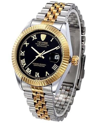 1ab9cabdb0b Tevise Homens Casal Relógio de Moda relógio mecânico Automático - da corda  automáticamente Calendário Impermeável Luminoso