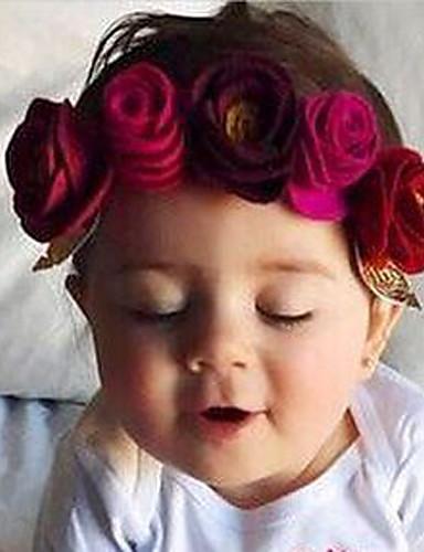 Unisexo Acessórios de Cabelo Todas as Estações Algodão Fibra Sintética Azul Vermelho Rosa Fúcsia Vinho