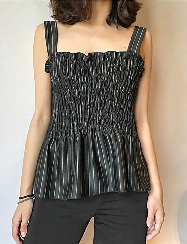 여성 솔리드 라운드 넥 짧은 소매 티셔츠,심플 캐쥬얼/데일리 면 봄 여름 불투명