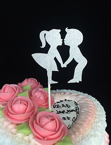 Decorações de Bolo Tema Clássico Papel de Cartão Casamento / Aniversário / Chá de Cozinha com Design Esculpido 10 pcs PPO