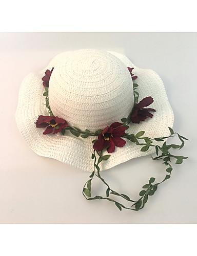 Mulheres Fofo Chapéu de sol Sólido