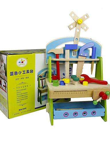voordelige Speelgoedgereedschap-Bouwgereedschap Speelgoedgereedschap Gereedschapskisten Veiligheid Hout Kinderen Jongens Speeltjes Geschenk