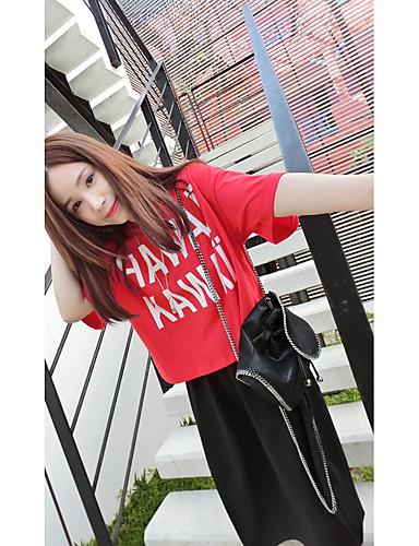 Damen Druck-Niedlich Street Schick T-shirt