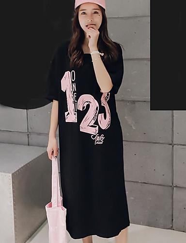 Damen Buchstabe - Freizeit Baumwolle T-shirt