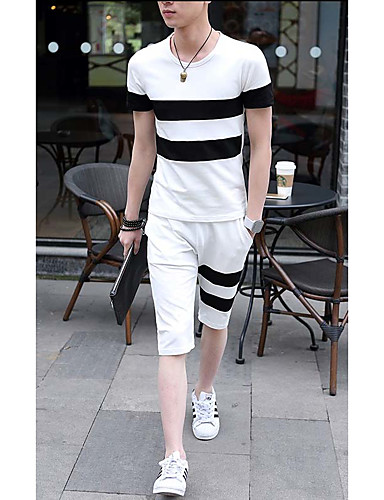 Herren Solide Einfach Street Schick T-shirt,Rundhalsausschnitt Kurzarm Kunstseide