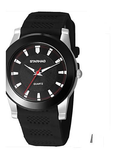 Pánské Módní hodinky čínština Křemenný Silikon Kapela Na běžné nošení Černá