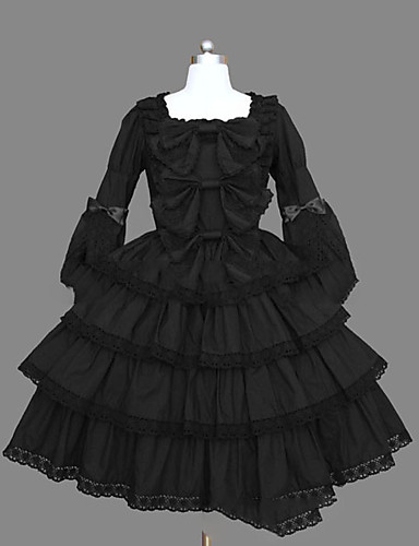 finest selection 285c9 e6efb Princess Gothic Lolita Dress Sweet Lolita Dress Punk Women s Girls  Dress  Cosplay Black Ball Gown Cap Sleeve Long Sleeve Short   Mini Plus Size  Customized ...