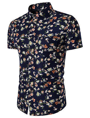 Pánské - Geometrický Košile Štíhlý