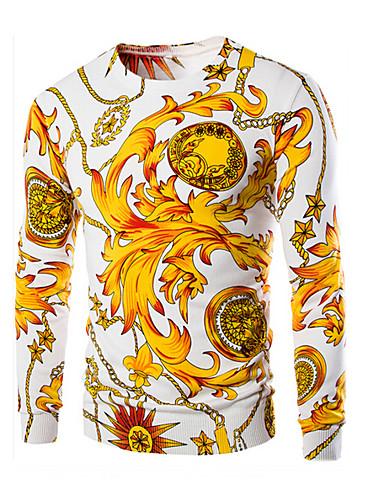 Pánské Čínské vzory Běžné/Denní Standardní Rolák Zvířecí potisk,Dlouhý rukáv Kulatý Bavlna Podzim Střední Lehce elastické