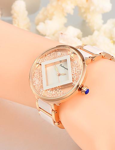 Dámské Unikátní Creative hodinky Hodinky na běžné nošení Křišťálové hodinky Módní hodinky Náramkové hodinky Křemenný Slitina Plastic