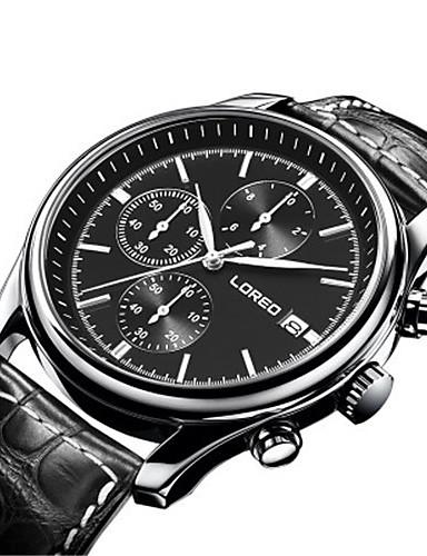 Pánské Módní hodinky mechanické hodinky Automatické natahování Voděodolné Kůže Kapela Černá Hnědá