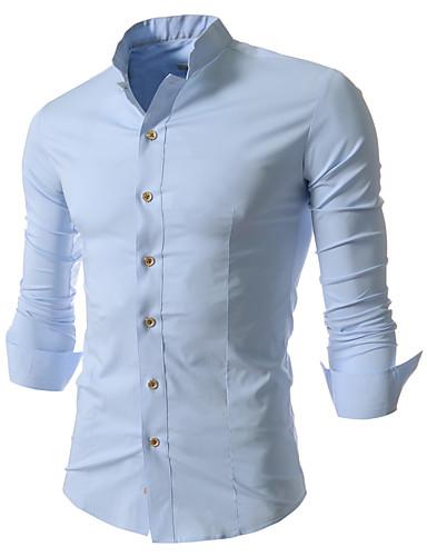 Herrn Solide - Chinoiserie Baumwolle Hemd, Klassischer Kragen