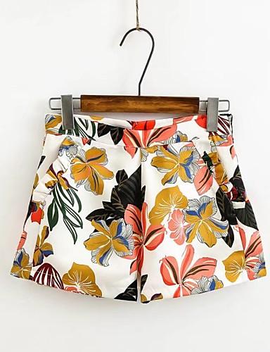 Damen Niedlich Street Schick Ausgehen Lässig/Alltäglich Über dem Knie Röcke Bodycon,Cotton Chambray Druck Frühling Sommer Herbst