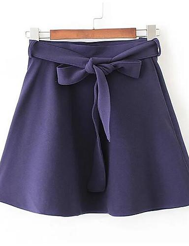 Damen Lässig/Alltäglich Mini Röcke Schlank einfarbig Sommer