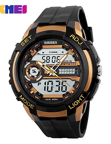 Homens Digital Relógio de Pulso Relógio inteligente Relógio Esportivo Chinês Calendário Cronógrafo Impermeável Mostrador Grande