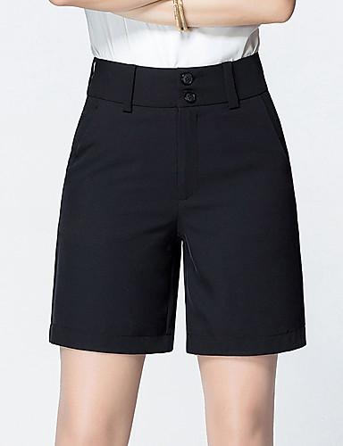Dámské Jednoduchý Mikro elastické Volné Kalhoty Volné High Rise Čistá barva Jednobarevné
