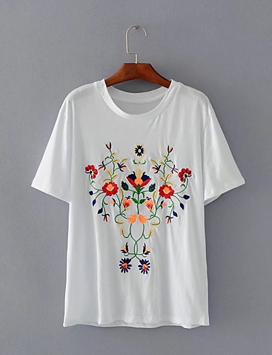 Women's Holiday Going out Daily Casual Sexy Street chic Spring Fall T-shirt