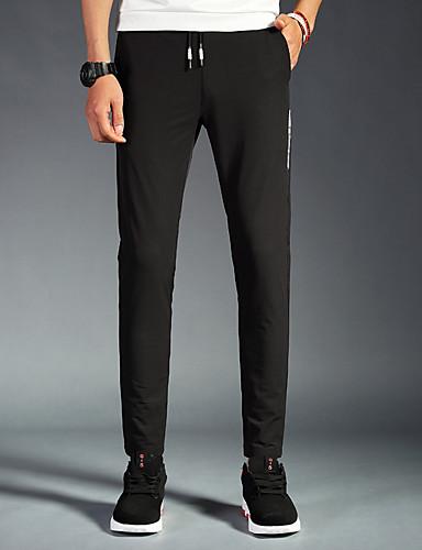 Pánské Aktivní Šik ven Čínské vzory Lehce elastické Upnuté Štíhlý Kalhoty chinos Kalhoty Low Rise Bavlna Polyester Spandex Jaro Léto