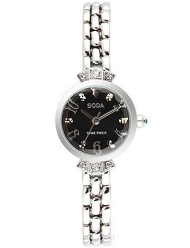Dámské Módní hodinky Křemenný Slitina Kapela Černá Bílá Zlatá