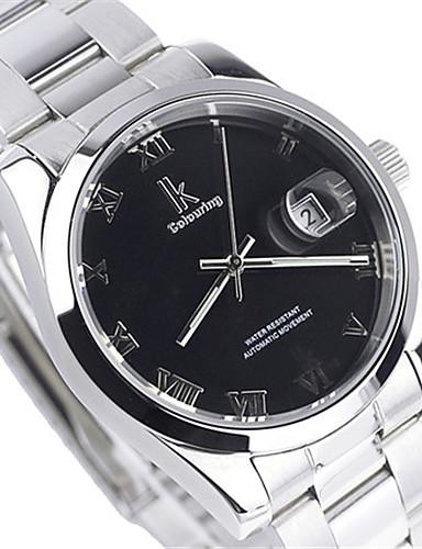 Pánské Sportovní hodinky Módní hodinky mechanické hodinky Automatické natahování Kalendář Voděodolné Slitina Kapela Stříbro