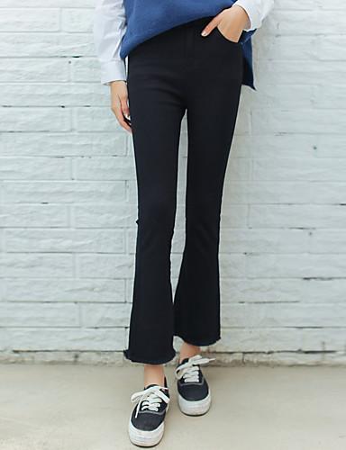Dámské Jednoduchý Mikro elastické Džíny Kalhoty Štíhlý Harémové Mid Rise