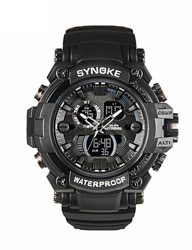 Pánské Sportovní hodinky Křemenný Kalendář LED Svítící Silikon Kapela Cool Černá