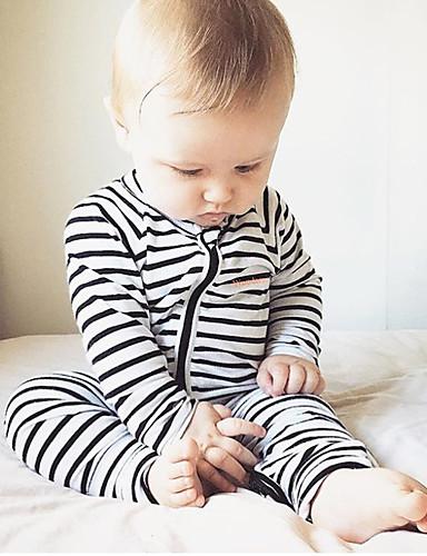 Baby Unisex Streifen Streifen / Patchwork / Modisch Langarm Baumwolle Einzelteil