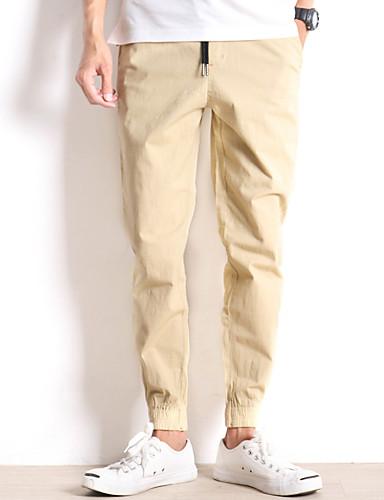 Pánské Jednoduchý strenchy Kalhoty chinos Kalhoty Harémové Mid Rise Jednobarevné