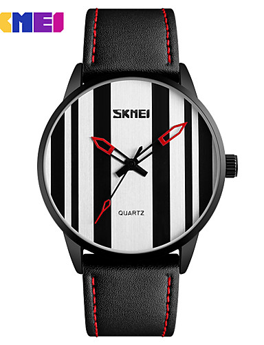Men's Sport Watch Smartwatch Wrist Watch Quartz 30 m Water Resistant / Water Proof Calendar / date / day Creative Genuine Leather Band Analog Charm Fashion Dress Watch Multi-Colored - White Black Red