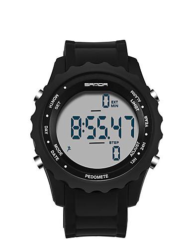 Pánské Digitální hodinky Sportovní hodinky japonština Křemenný LED Plastic Kapela Na běžné nošení Černá