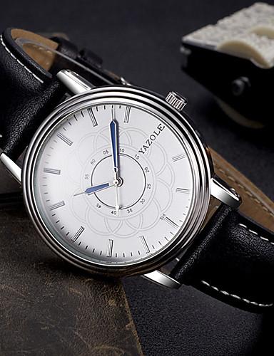 Herrn Armbanduhr Modeuhr Armbanduhren für den Alltag Quartz Leder Band Freizeit Elegant Cool Schwarz Braun