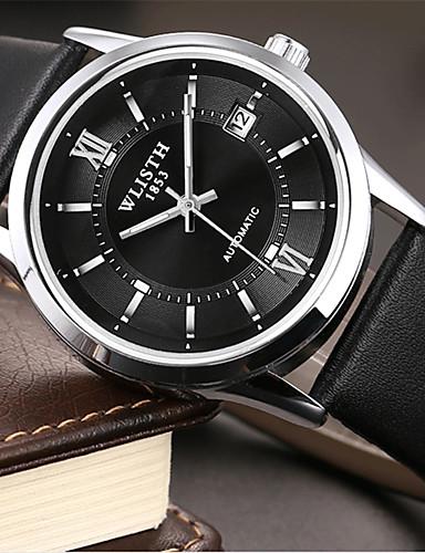 Pánské Módní hodinky Křemenný Kůže Kapela Na běžné nošení Černá Hnědá