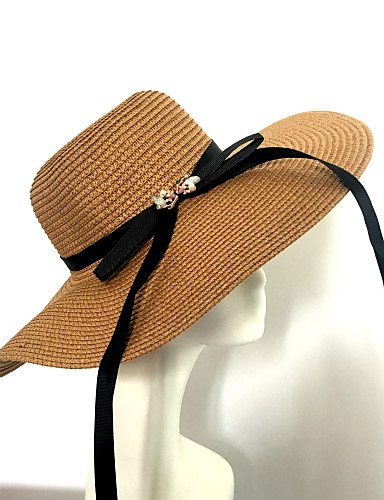 Naiset Vintage Vapaa-aika Korostus/koriste Hatut Aurinkohattu,Tukeva 봄/Syksy Kesä Olki
