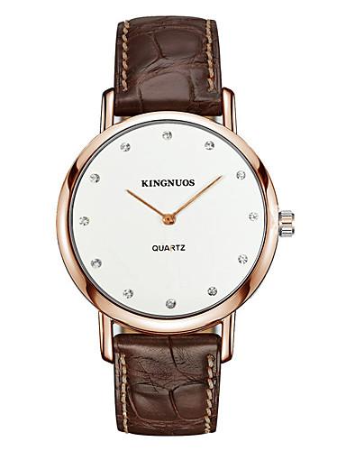 Pánské Náramkové hodinky Módní hodinky Křemenný imitace Diamond Kůže Kapela Na běžné nošení Černá Hnědá