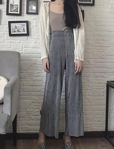 Dámské Šik ven Volné Široké nohavice Kalhoty Jednobarevné