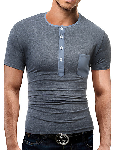 Miesten Boheemi T-paita, Yhtenäinen Yhtenäinen väri