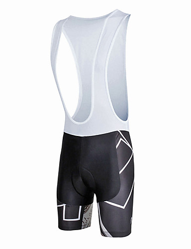 cheap Cycling Clothing-ILPALADINO Men's Cycling Bib Shorts Bike Bib Shorts Pants Bottoms Windproof Breathable 3D Pad Sports Lycra Black / White Road Bike Cycling Clothing Apparel Relaxed Fit Bike Wear / Quick Dry