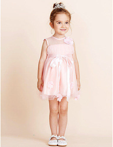 4caab9a20 Ball Gown Knee Length Flower Girl Dress - Cotton Sleeveless Jewel Neck with  Draping 5716876 2019 – $29.99