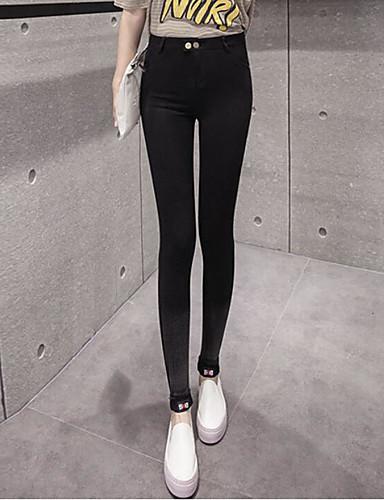 Damen Einfach Tiefe Hüfthöhe strenchy Chinos Skinny Hose,Reine Farbe Solide