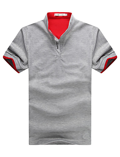 0d71b95ca962b Men s Cotton Slim Polo - Solid Colored Stand   Short Sleeve   Spring    Summer