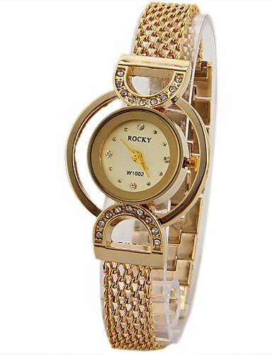 Mulheres Simulado Diamante Relógio Único Criativo relógio Relógio de Moda Chinês Quartzo imitação de diamante Metal Banda Brilhante Preta